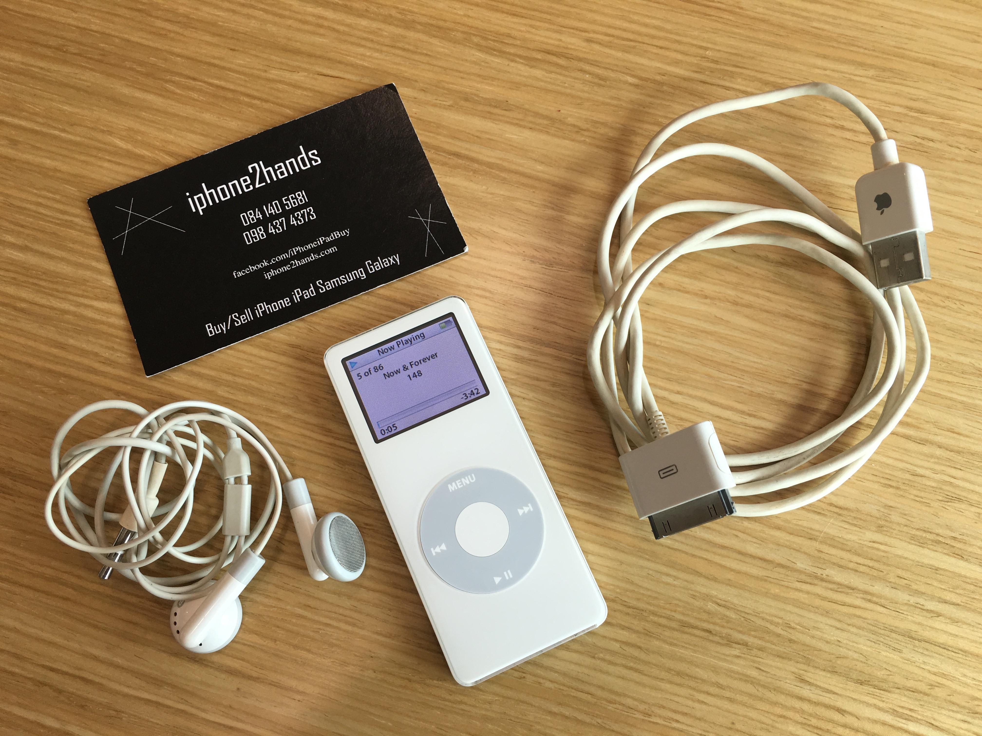 ขาย iPod Nano gen1 2gb สีขาว มือสอง ราคาถูก