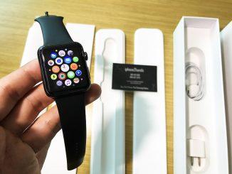 ขาย apple watch sport สีดำ มือสอง 42mm
