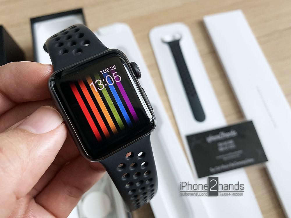 Apple Watch S3 Nike สีดำ 38mm GPS ศูนย์ไทย ครบกล่อง