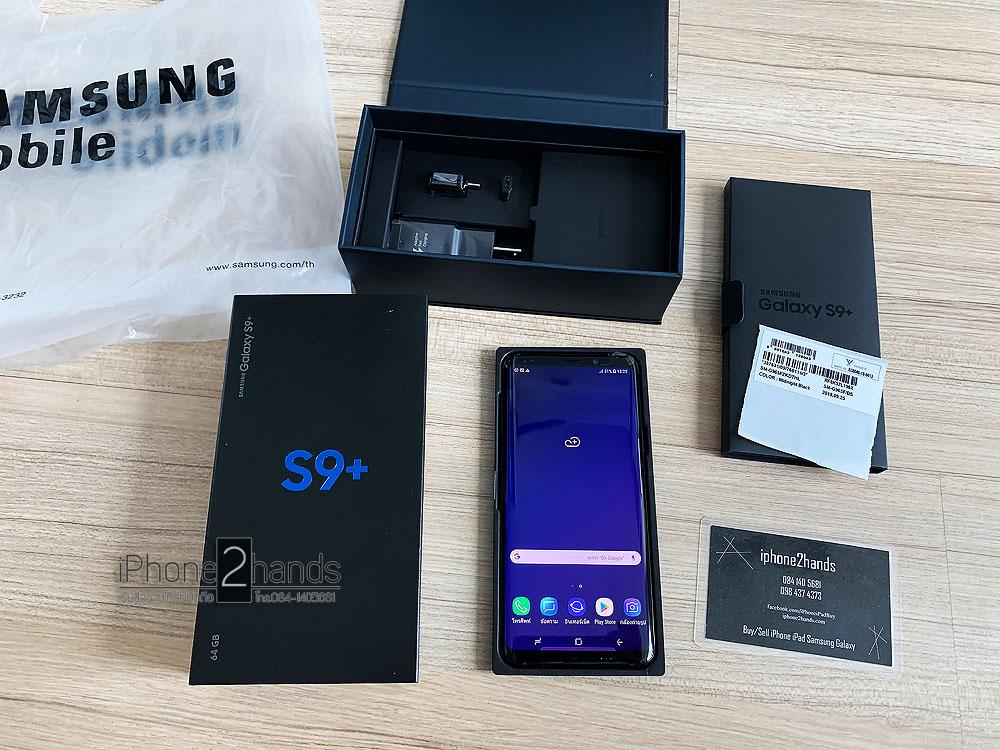S9 Plus สีดำ 64gb มือ1 ประกันศูนย์ถึง 20 กุมภา63 ปีหน้า