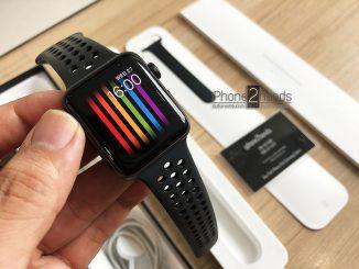 Apple Watch S3 Nike สีดำ 42MM GPS เครื่องศูนย์ มือสอง ราคาถูก