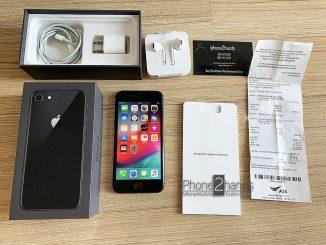 ขาย iPhone 8 สีดำ 64gb ศูนย์ AIS ประกัน ตุลา 62 พร้อมใบเสร็จ