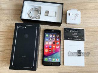 ขาย iPhone 7 Plus สีดำเงา 128gb เครื่องศูนย์ มือสอง ราคาถูก