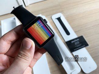 ขาย Apple Watch S3 สีดำ 42mm GPS มือสอง ราคาถูก ครบกล่อง