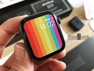 Apple Watch S4 Nike 44mm สีดำ GPS ครบกล่อง ประกันเหลือ ราคาถูก