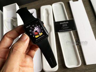 ขาย Apple Watch S1 สีดำ 42mm เครื่องศูนย์ไทยมือสองราคาถูก