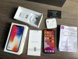 ขาย iPhone X สีดำ 64gb เครื่องประกันศูนย์ถึง ธันวา62 พร้อมใบเสร็จ