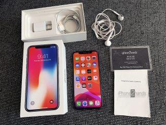ขาย iPhone X สีดำ 256gb ศูนย์ไทย มือสอง ราคาถูก ครบกล่อง