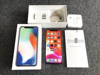 ขาย iPhone x สีขาว 64gb ศูนย์ไทย ครบกล่อง มือสอง ราคาถูก