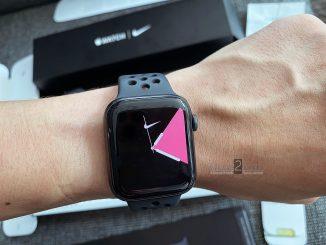 ขาย Apple Watch S5 Nike 44mm GPS สีดำ ประกันเหลือ ใบเสร็จ