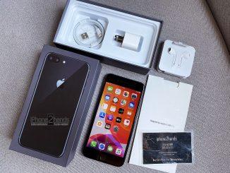 ขาย iPhone 8 Plus สีดำ 64gb ศูนย์ไทย มือ1 ซื้อมาเก็บไม่ได้ใช้งาน ใหม่มากๆ
