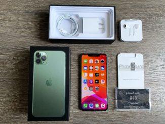 ขาย iPhone 11 Pro Max สีเขียว 256gb ศูนย์ไทย ประกัน เมษา64 ราคาถูก