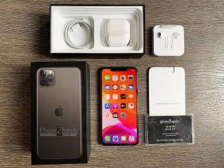 ขาย iPhone 11 Pro Max สีดำ 64gb ใส่ซิมได้ 2 ซิม ประกันพฤศจิ 63