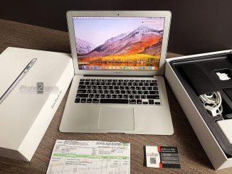 ขาย Macbook air 13 นิ้ว ปี 2015 ram 8GB พร้อมใบเสร็จ ซื้อปี 2017