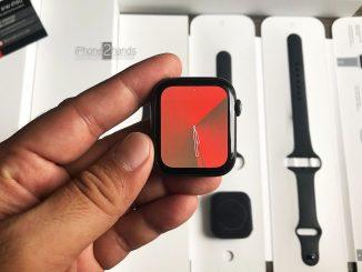 ขาย Apple Watch S4 สีดำ 44MM GPS ครบกล่อง มือสอง ราคาถูก