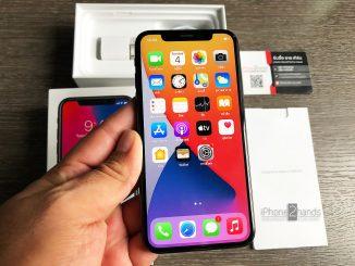 ขาย iPhone X สีดำ 256gb ศูนย์ไทย มือสอง ราคาถูก