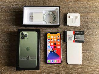 ขาย iPhone 11 Pro สีเขียว 512gb ศูนย์ไทย ประกันยาวๆ 1 ปีเต็มๆ