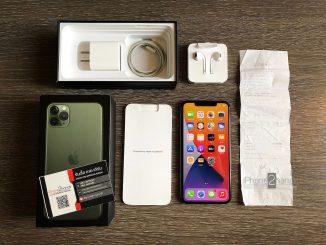 iPhone 11 Pro Max สีเขียว 256gb ประกันเหลือ พร้อมใบเสร็จ