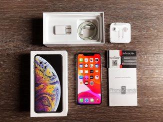 ขาย iPhone XS MAX สี Silver 256gb มือสอง ราคาถูก ครบกล่อง