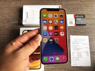 ขาย iPhone 12 สี Silver 128gb เใช้งานแค่ 5 วัน ประกันยาวๆ มีนาคม 65 ปีหน้า พร้อมใบเสร็จ