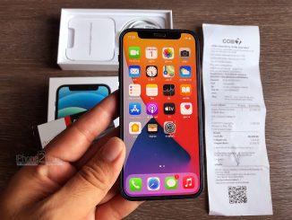 ขาย iPhone 12 Mini สี Pacific Blue 128gb ศูนย์ไทย ประกันยาวๆ ธันวาคม 64 พร้อมใบเสร็จ