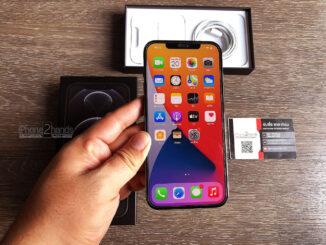 iPhone 12 Pro Max สีดำ 128gb ศูนย์ไทย ครบกล่อง มือสอง ประกันเหลือ ราคาถูก
