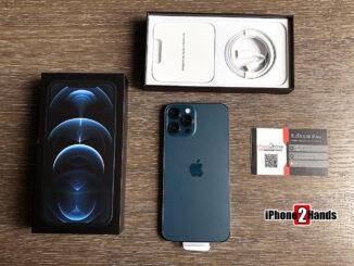 iPhone 12 Pro Max สี Pacific Blue 128gb ศูนย์ไทย มือ 1 ประกันยาวๆ 1 ปีเต็ม ราคาถูก