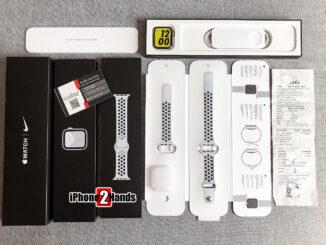 Apple Watch SE Nike สี Silver 44MM GPS ประกันยาวๆ 28 ธันวาคม 64 พร้อมใบเสร็จ