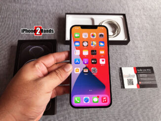 iPhone 12 Pro Max สีดำ 128gb ศูนย์ไทย ครบกล่อง มือสอง ราคาถูก ประกันเหลือ