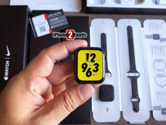 Apple Watch S5 สีดำ Nike 44MM GPS ศูนย์ไทย ครบกล่อง สภาพมือ 1 ราคาถูก
