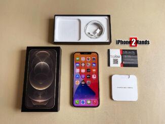iPhone 12 Pro Max สีทอง 256gb ศูนย์ไทย มือสอง ประกันเหลือ ราคาถูก