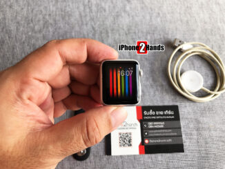 Apple Watch สี Silver 38MM เครื่องศูนย์ มือสอง ราคาถูก 2,900 บาท