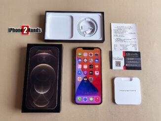 iPhone 12 Pro Max สีทอง 128gb ศูนย์ไทย ประกันยาวๆ เมษายน 65 ปีหน้า พร้อมใบเสร็จ
