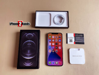 iPhone 12 Pro Max สีดำ 128gb ศูนย์ไทย ประกันยาวๆ 11 เดือน ราคาถูก