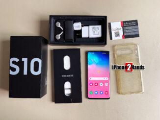 Samsung Galaxy S10 สี Prism White 128gb Wifi ศูนย์ไทย ครบกล่อง มือสอง ราคาถูก