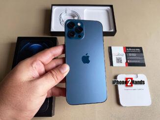 ขาย iPhone 12 Pro Max สี Pacific Blue 256gb ศูนย์ไทย ประกันเหลือ ราคาถูก